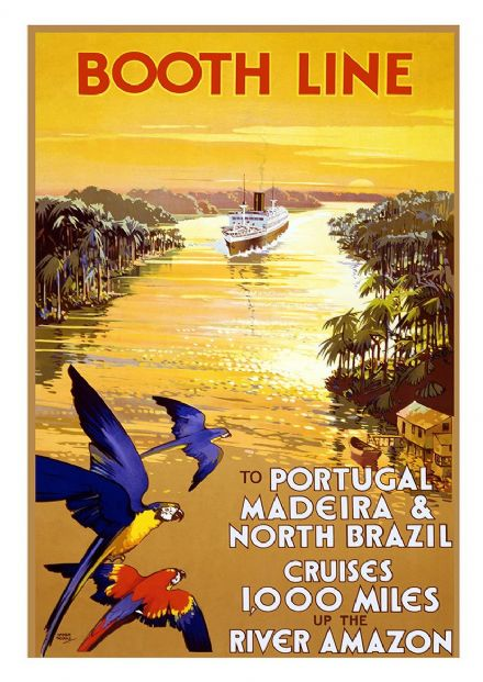 Booth Line: To Portugal, Madeira & North Brazil Cruises 1,000 Miles up the River Amazon. (002700)